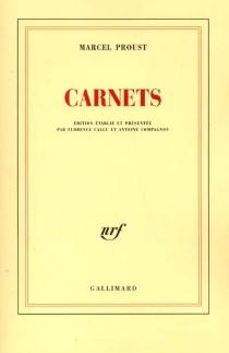Carnets - MarcelProust