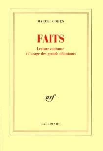 Faits - MarcelCohen