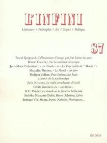 Infini (L'), n° 87 -