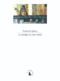 La casuistique des repas romains - ThomasDe Quincey