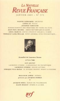Nouvelle revue française, n° 572 -