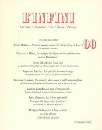 Infini (L'), n° 90 -