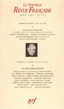 Nouvelle revue française, n° 573 -