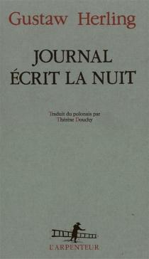 Journal écrit la nuit - GustawHerling