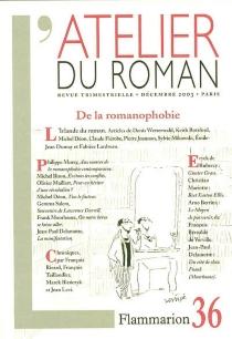 Atelier du roman (L'), n° 36 -