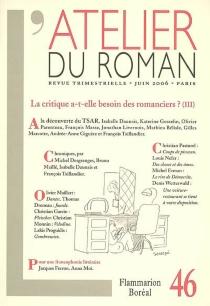 Atelier du roman (L'), n° 46 -