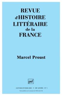 Revue d'histoire littéraire de la France, n° 1 (2000) -