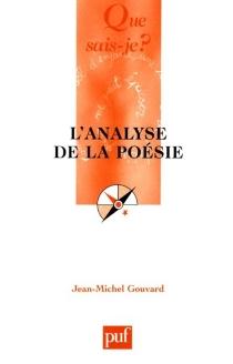 L'analyse de la poésie - Jean-MichelGouvard