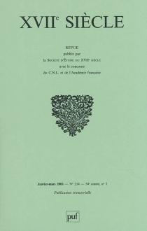 Dix-septième siècle, n° 214 -