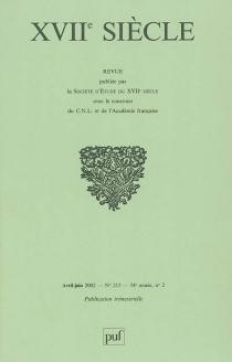 Dix-septième siècle, n° 215-2 -