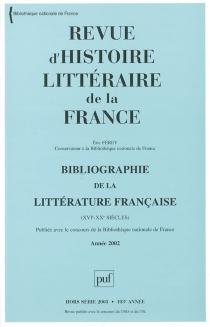 Revue d'histoire littéraire de la France, hors série, n° 2003 - ÉricFérey