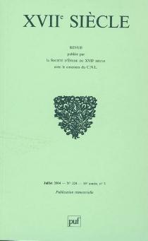 Dix-septième siècle, n° 224 -