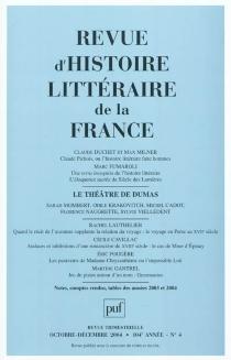 Revue d'histoire littéraire de la France, n° 4 (2004) -