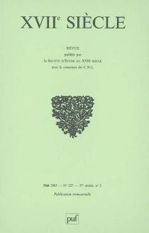 Dix-septième siècle, n° 227 -