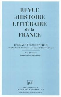 Revue d'histoire littéraire de la France, n° 4 (2005) -