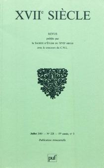 Dix-septième siècle, n° 228 -