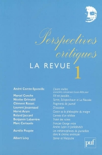 Perspectives critiques, la revue, n° 1 -