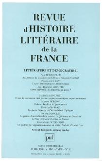 Revue d'histoire littéraire de la France, n° 2 (2006) -