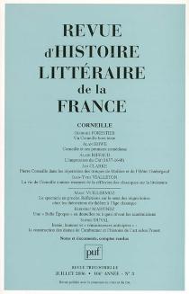 Revue d'histoire littéraire de la France, n° 3 (2006) -