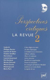 Perspectives critiques, la revue, n° 2 -