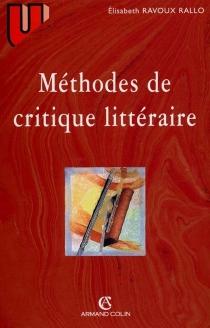 Méthodes de critique littéraire - ÉlisabethRallo Ditche