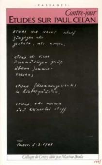 Contrejour : études sur Paul Celan, colloque de Cérisy -