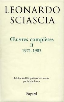 Oeuvres complètes - LeonardoSciascia