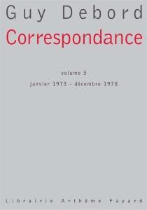 Correspondance - GuyDebord