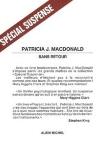 Sans retour - Patricia J.MacDonald