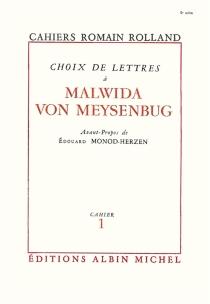 Choix de lettres à Malwida von Meysenburg - RomainRolland