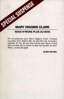 Nous n'irons plus au bois - Mary HigginsClark