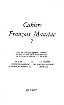 Cahiers François Mauriac, n° 7 -