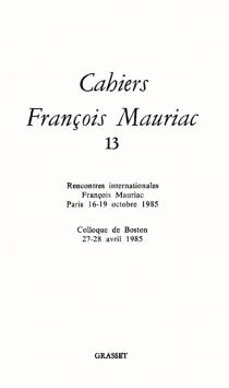 Cahiers François Mauriac, n° 13 -