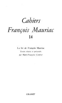 Cahiers François Mauriac, n° 14 -