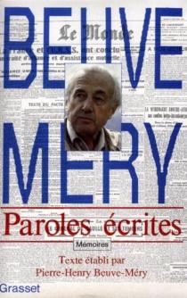 Paroles écrites : mémoires - HubertBeuve-Méry