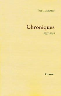 Chroniques - PaulMorand