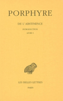 De l'abstinence - Jean Bouffartigue