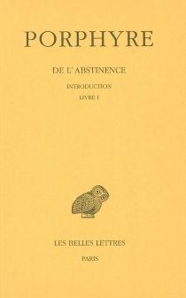De l'abstinence - JeanBouffartigue