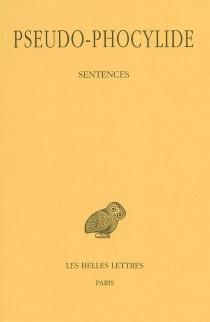 Sentences - Phocylide