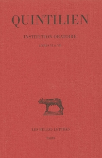 Institution oratoire - Quintilien