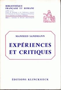 Expériences et critiques - ManfredSandmann