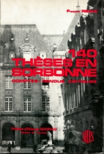 Cent quarante thèses en Sorbonne : comptes rendus critiques, 1914-1962 - FrançoiseReiss