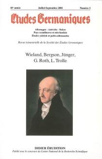 Etudes germaniques, n° 3 (2005) -