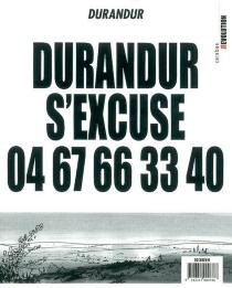 Durandur s'excuse 04 67 66 33 40 : je pisse sur la bande dessinée - Durandur