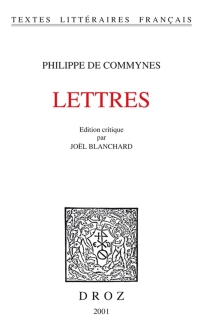 Lettres - Philippe deCommynes