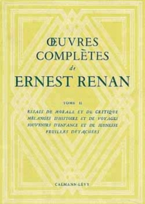 Oeuvres complètes - Ernest Renan