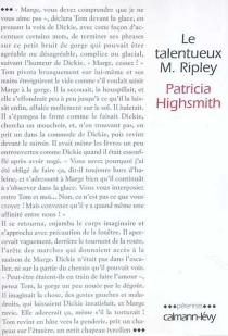 Le talentueux M. Ripley - PatriciaHighsmith