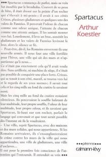 Spartacus - ArthurKoestler