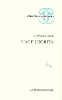 L'âge libertin - ClaudeReichler