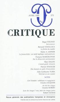 Critique, n° 575 -